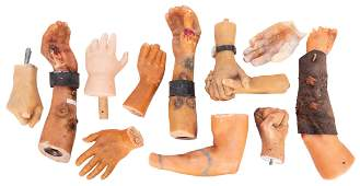 Lot of 10 Wax Museum Hands Lifesize hands sculpted in