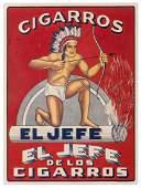 [Tobacco] Cigarros / El Jefe. Corrales, ca. 1940s.