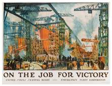 Lie, Jonas (1880-1940). On the Job for Victory. United