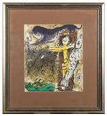 Chagall Marc 18871985 after Le Christ a l8217