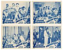 Prison Bait. Toddy, R-1940. Set of four lobby cards for