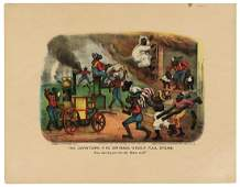 Currier  Ives Darktown Fire Brigade Under Full
