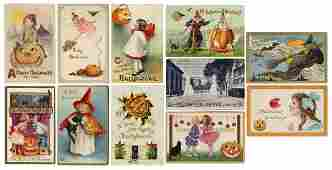 Halloween Postcards. Lot of 11. 1900s/10s. Various