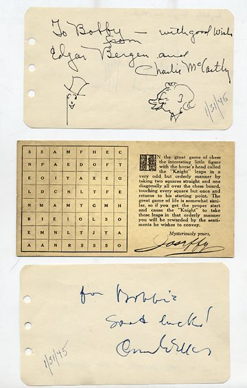 13: Collection of hundreds of autographs of well known