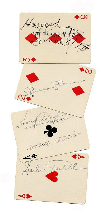 14: 33 Autographed Playing Cards