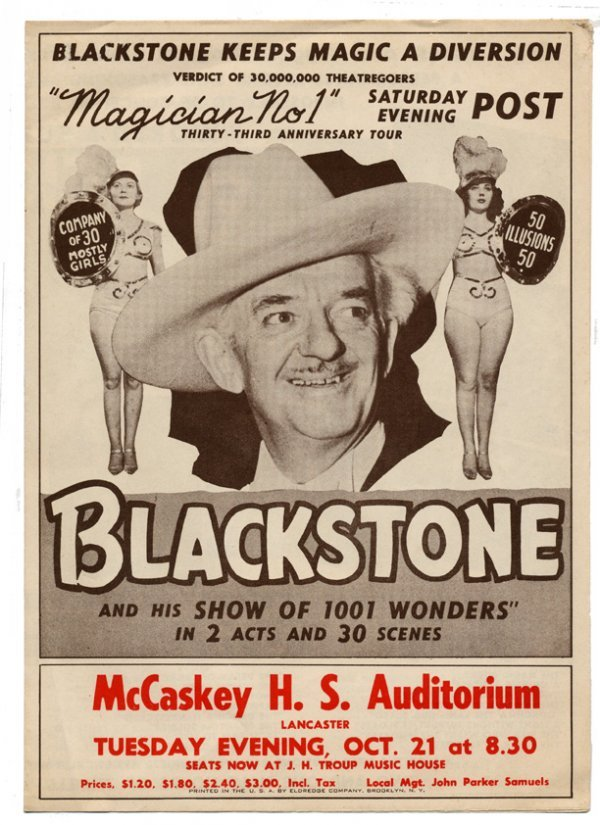 22: Blackstone, Harry. Archive of over 25 pieces of eph