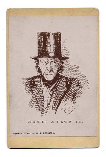 50: Photographic reproduction of sketch of Charlier in