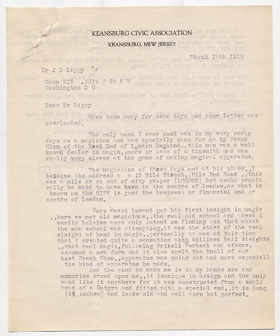 63: Large archive of correspondence to John Lippy
