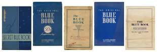 H.C. Evans Blue Books. Lot of 5. Chicago, 1920s-40s.