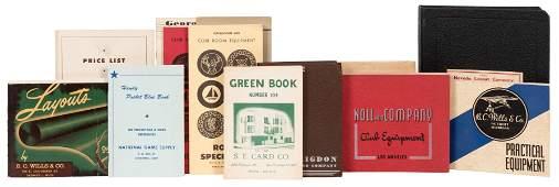 Lot of 15 Gambling Supply Catalogs. American, ca.