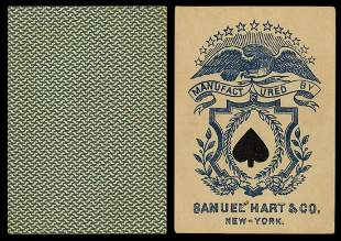 Samuel Hart & Co. Linen Eagle Faro Playing Cards. New