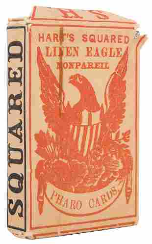 Samuel Hart & Co. Linen Eagle Pharo (Faro) Playing