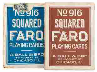 A. Ball & Bro. No. 916 Faro Playing Cards. Chicago, ca.