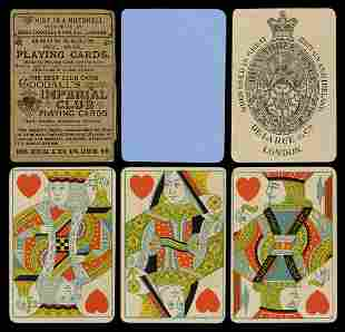 Faux Cigar Box with De La Rue Playing Cards. England,