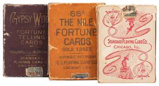 Three Fortune-Telling Decks of Playing Cards. Including