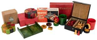 Group of Bakelite and Catalin Gaming Items. Including a