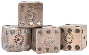 Sterling Silver Dice and Gambling Items. Including two