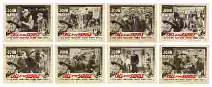 Tall in the Saddle Lobby Cards 8 RKO R1953 Set of