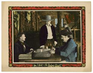 The Testing Block. 1920. Lobby card from the silent