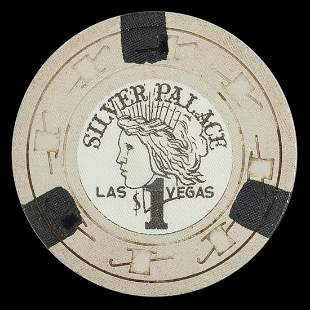 Silver Palace $1 Las Vegas Casino Chip. Third issue