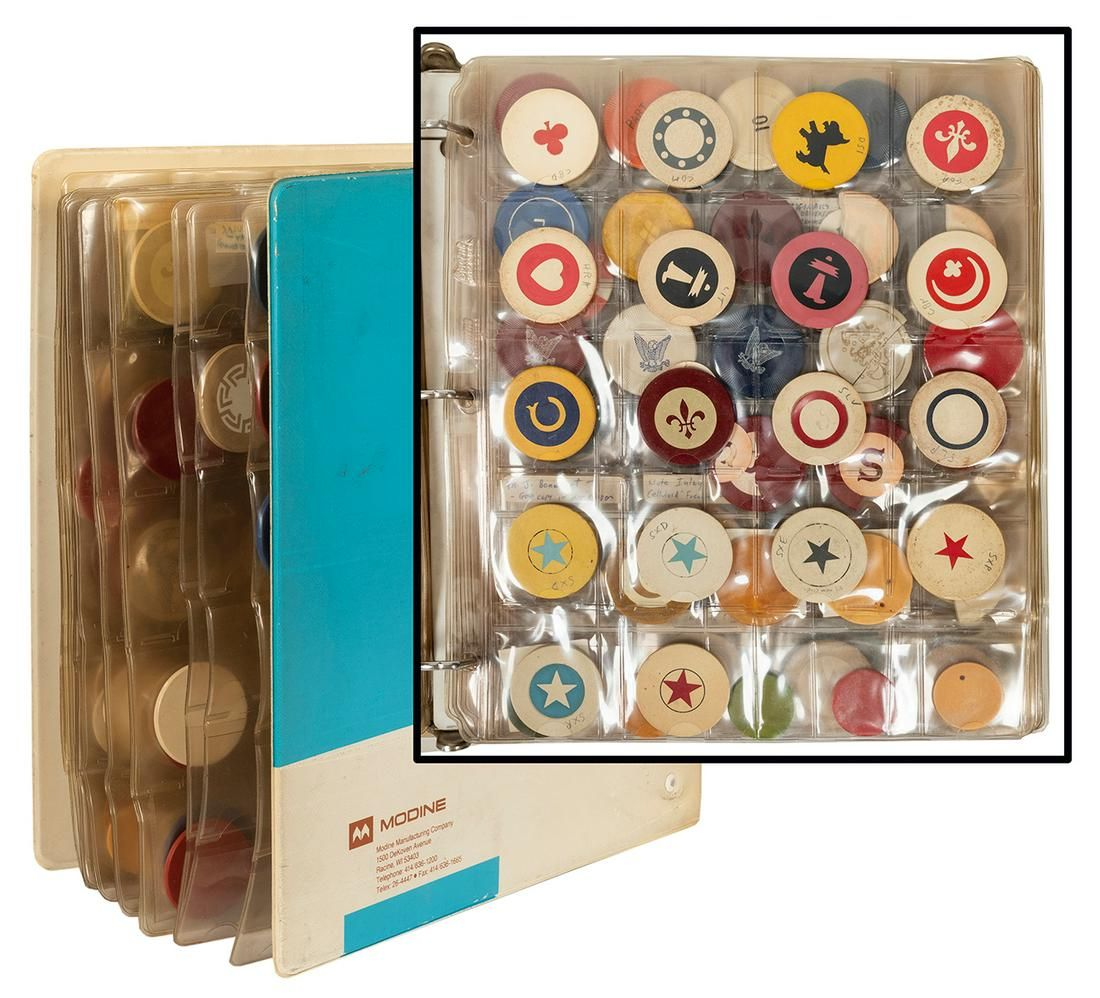 Collection of Bakelite and Manufacturer Error Chips.