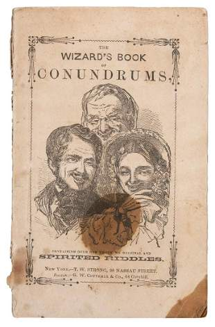 [Anderson, John Henry] The Wizard's Book of Conundrums.