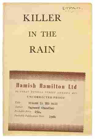 CHANDLER, Raymond (1888–1959). Killer in the Rain.