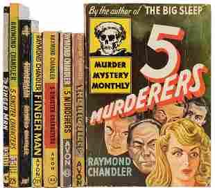 CHANDLER, Raymond (1888–1959). Seven Avon Titles