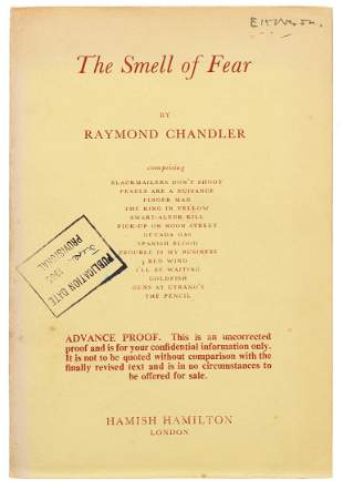CHANDLER, Raymond (1888–1959). The Smell of Fear.
