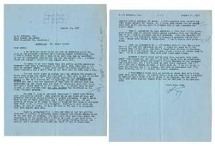 CHANDLER, Raymond (1888–1959). Typed Letter Signed