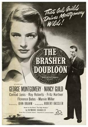 [CHANDLER, Raymond]. The Brasher Doubloon Pressbook.