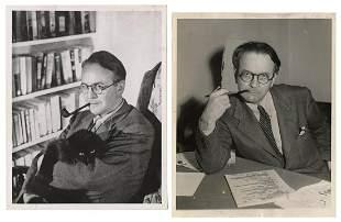 CHANDLER, Raymond (1888–1959). Pair of Press Photos.