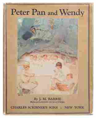 BARRIE, James Matthew (1860–1937). Peter Pan and Wendy.