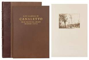[CANALETTO]. Fifty Drawing by Canaletto from the Royal