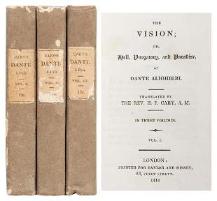 CARY, Henry Francis (1772–1844), translator. The Vision;