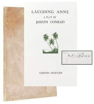 [FINE PRESS]. CONRAD, Joseph (1857–1954). Laughing