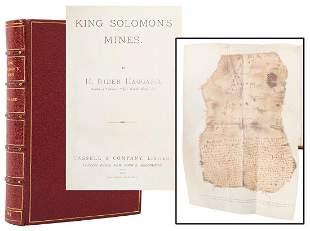 HAGGARD, Henry Rider (1856–1925). King Solomon's Mines.