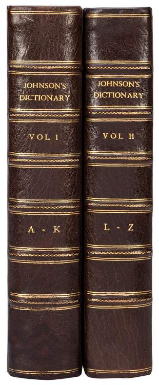 JOHNSON, Samuel (1709–1784). A Dictionary of the