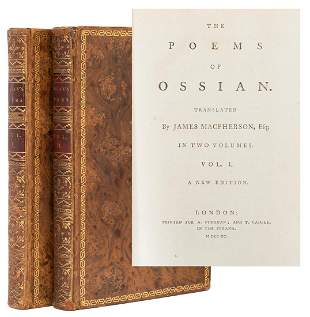 MACPHERSON, James (1736–1796). The Poems of Ossian.