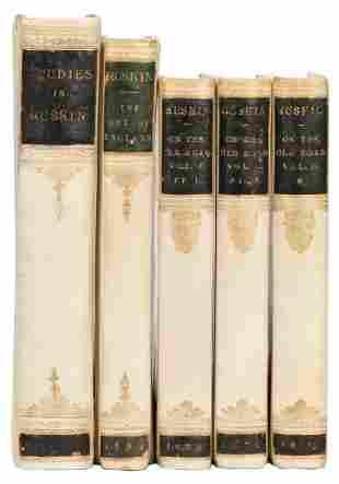 RUSKIN, John (1819–1900). Three Works. Including: The