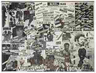 HAMPTON, Don. [Untitled], African American Collage