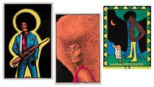 Three African American / Black Panther Black Light