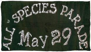 [ECO-ACTIVISM]. All Species Day Parade Felt Banner and