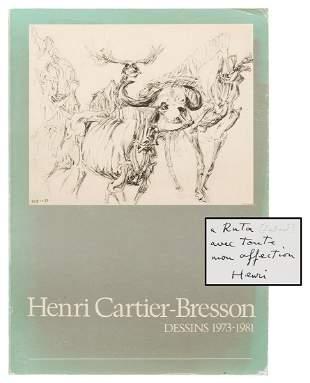 CARTIER-BRESSON, Henri (1908–2004). Dessins 1973-1981.