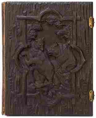 [LIVRE D'ARTISTE]. Black Forest Carved Carte de Visite