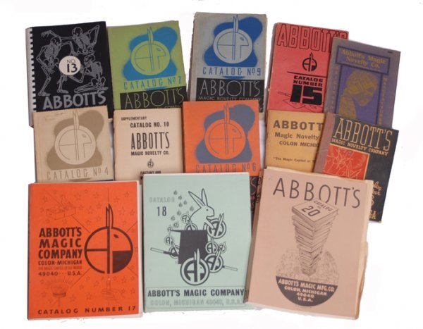 1: Abbott's Magic Co. collection of 15 catalogs.