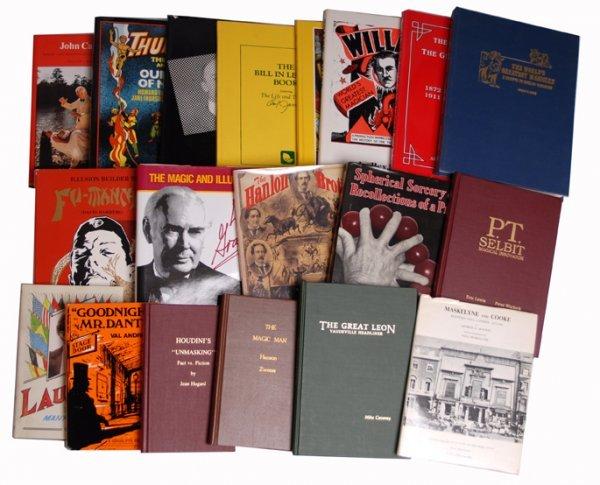 10: 37 different hardbound magicians' biographies
