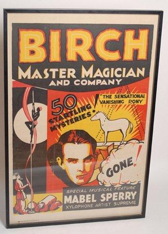 """11: Birch poster """"The Sensational Vanishing Pony"""""""
