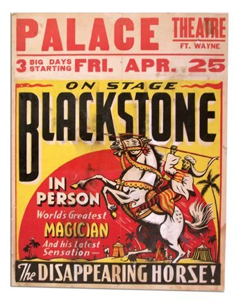 """14: Harry Blackstone poster """"The Disappearing Horse."""""""