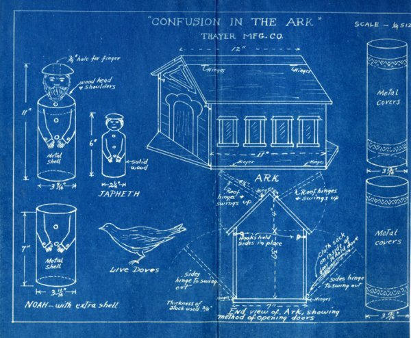 16: A collection of over 40 Thayer Blueprints and instr